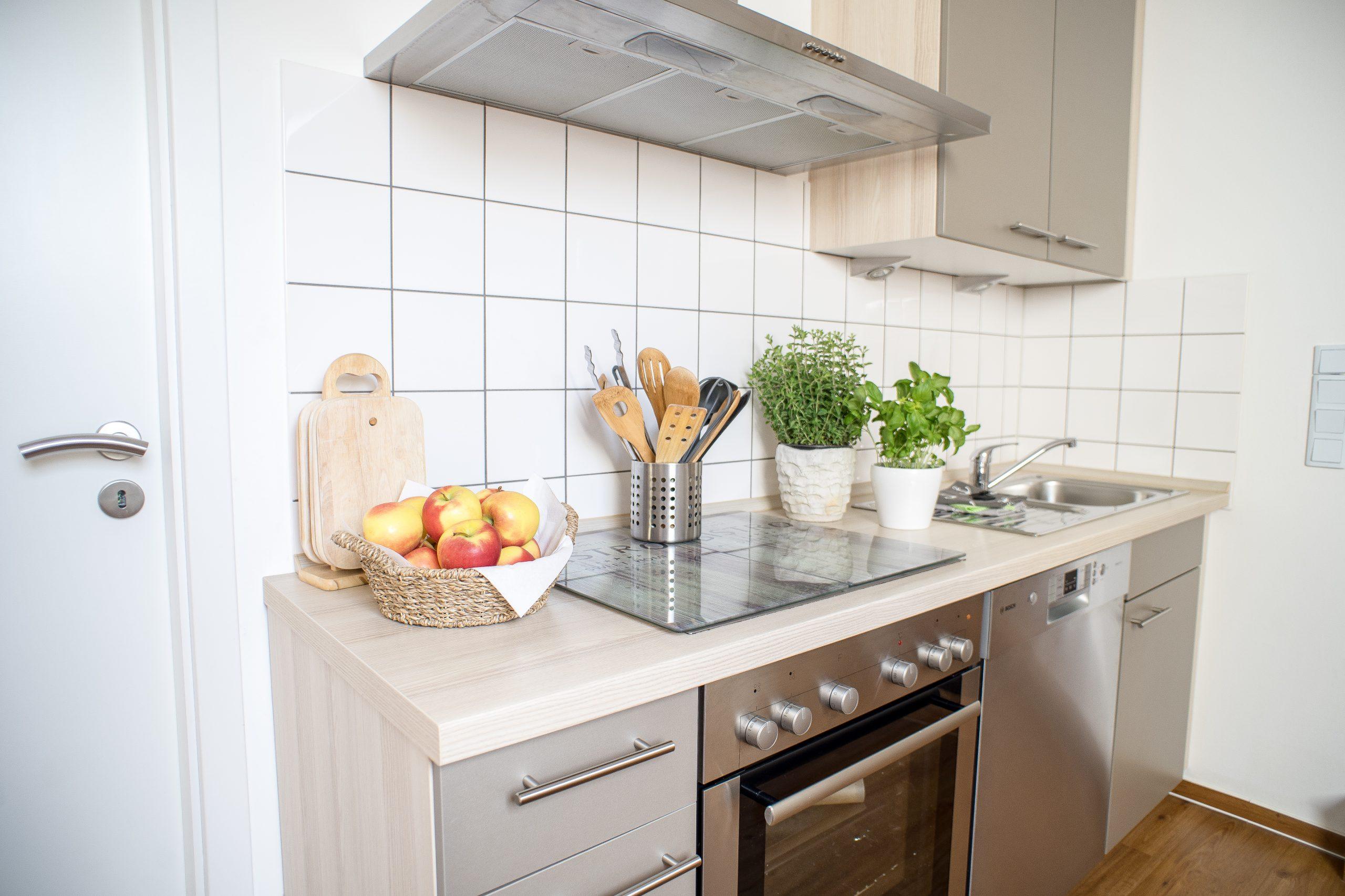 Offene Küchenzeile  mit Geschirrspüler