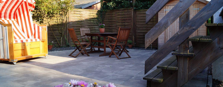 Terrasse zum Ausspannen, Sonnenbaden, Grillen